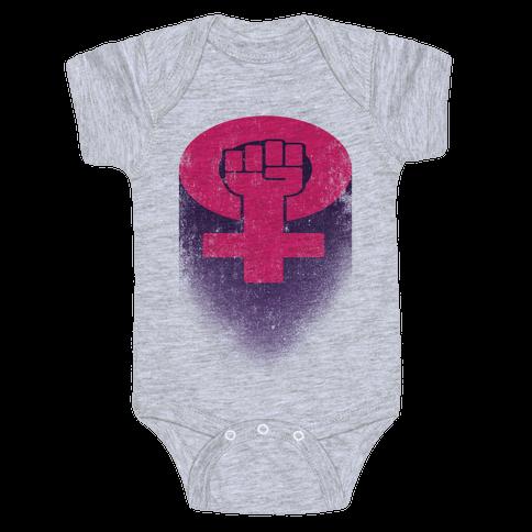 Feminism Symbol Baby Onesy
