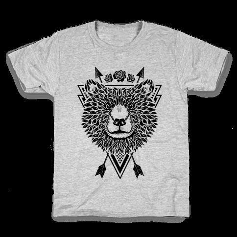 Indie Warrior Bear Kids T-Shirt