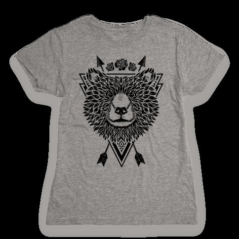 Indie Warrior Bear Womens T-Shirt