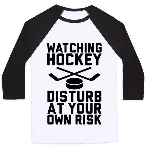 Watching Hockey Baseball Tee