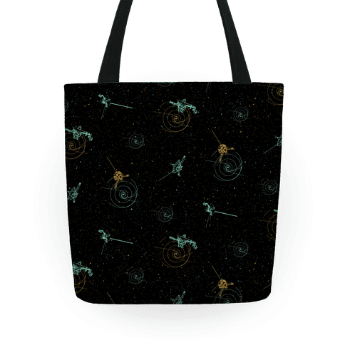 NASA Wanderlust Spacecrafts Pattern Tote