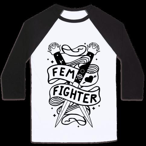 Fem Fighter Baseball Tee