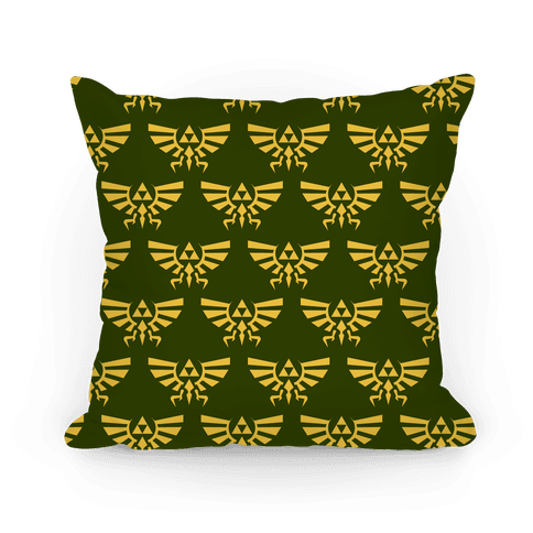 Hylian Crest Pattern Pillow
