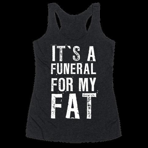 I Wear Black When I Workout Racerback Tank Top