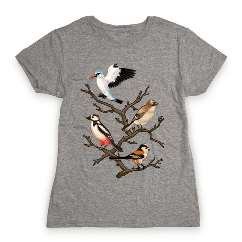 Woodland Birds Womens T-Shirt
