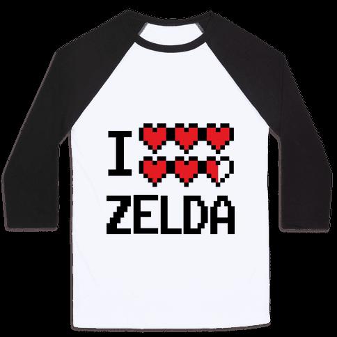 I Heart Zelda Baseball Tee