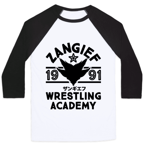 Zangief Wrestling Academy Baseball Tee