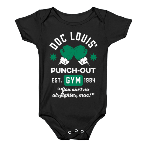 Doc Louis' Punch Out Gym Baby Onesy