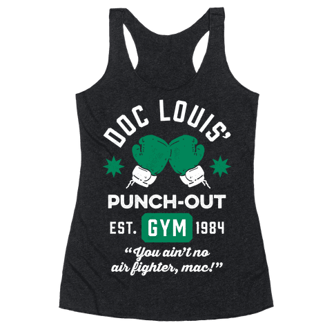 Doc Louis' Punch Out Gym Racerback Tank Top