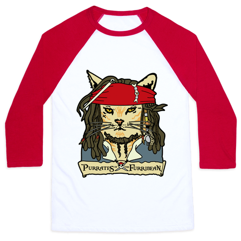 Cats of the Caribbean Baseball Tee