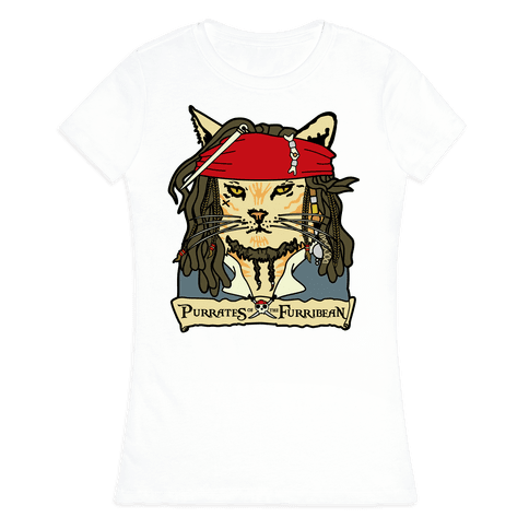 Cats of the Caribbean Womens T-Shirt