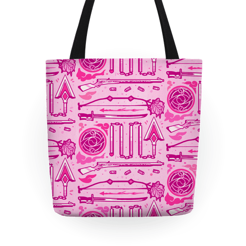 Madoka Magic Girl Weapons Pattern Tote