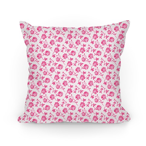 Pretty Little White and Pink Flowers Pattern Pillow