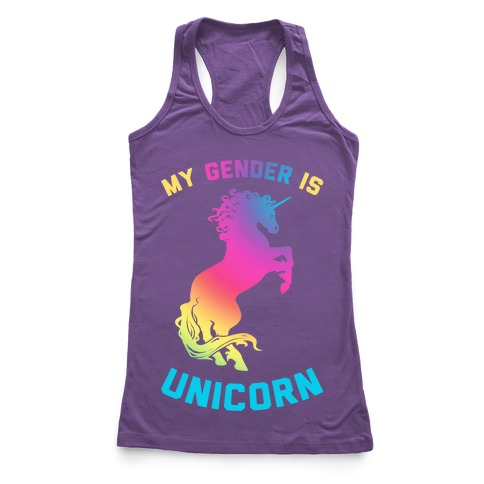 My Gender Is Unicorn Racerback Tank Top