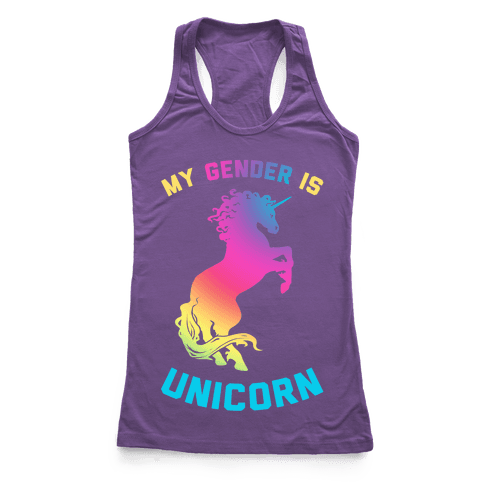 My Gender Is Unicorn Racerback Tank Top