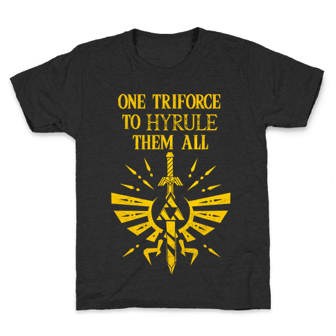 One Triforce To Hyrule Them All Kids T-Shirt