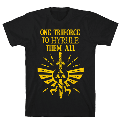One Triforce To Hyrule Them All Mens T-Shirt