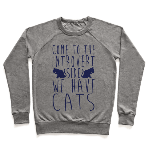 Come To The Introvert Side We Have Cats Pullover
