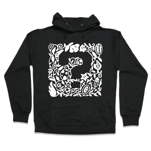 Floral Question Block Hooded Sweatshirt