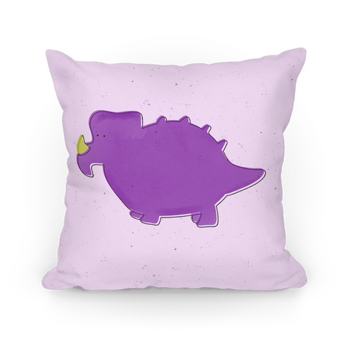 Cute Purple Dinosaur Pillow