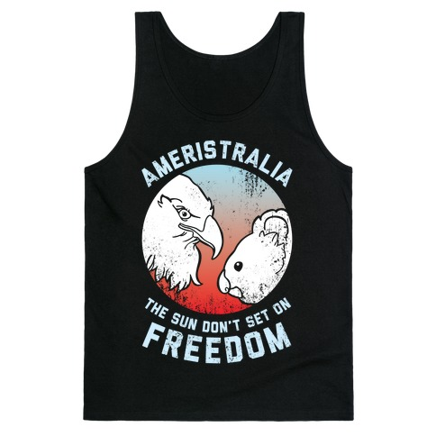 The Sun Don't Set On Freedom (Patriotic Ameristralia) Tank Top