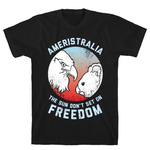 The Sun Don't Set On Freedom (Patriotic Ameristralia) T-Shirt