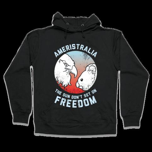 The Sun Don't Set On Freedom (Patriotic Ameristralia) Hooded Sweatshirt