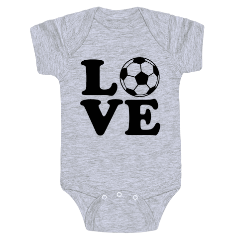 Love Soccer Baby Onesy