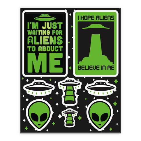 Alien sticker decal sheet