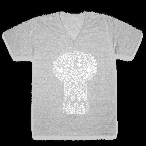 Decorative Skull V-Neck Tee Shirt