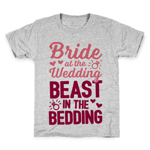 Bride At The Wedding Kids T-Shirt