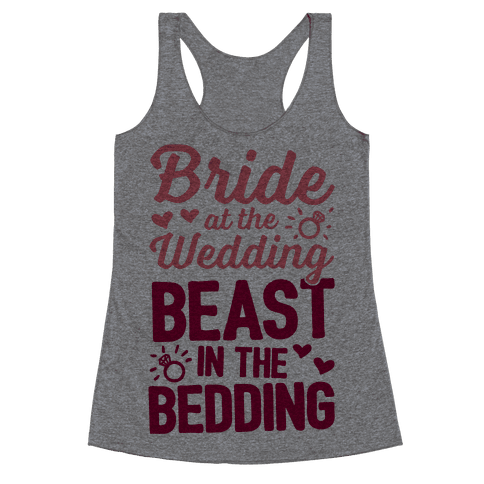 Bride At The Wedding Racerback Tank Top