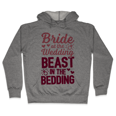 Bride At The Wedding Hooded Sweatshirt