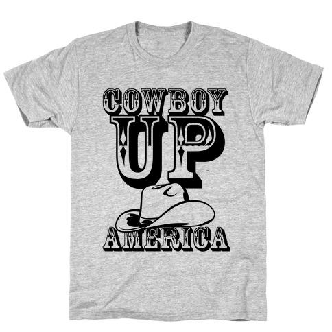 Cowboy Up America Mens T-Shirt