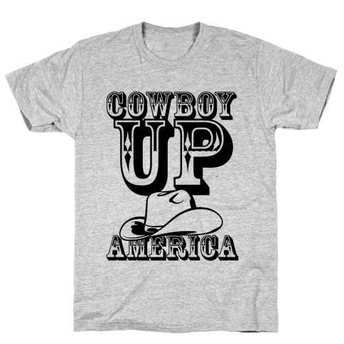 Cowboy Up America Mens T-Shirt