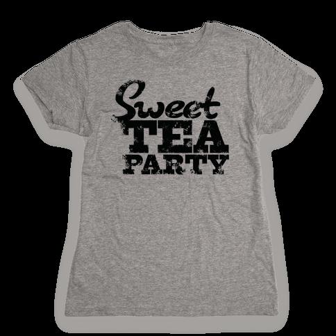 Sweet Tea Party Womens T-Shirt
