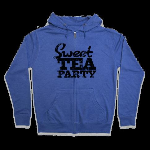 Sweet Tea Party Zip Hoodie
