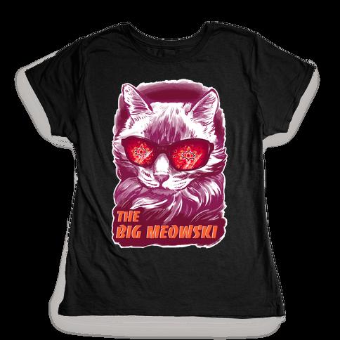 The Big Meowski Womens T-Shirt