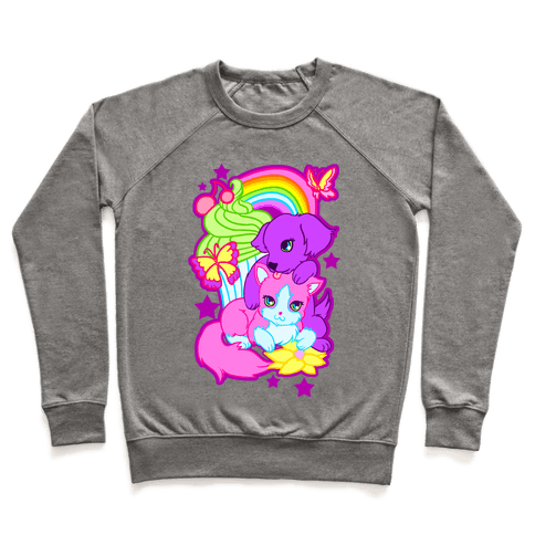 Double Trouble Rainbow Kitty & Puppy Pullover