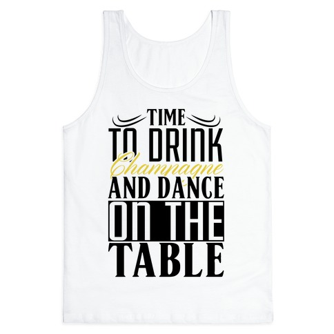 Champagne Drinking Tank Top