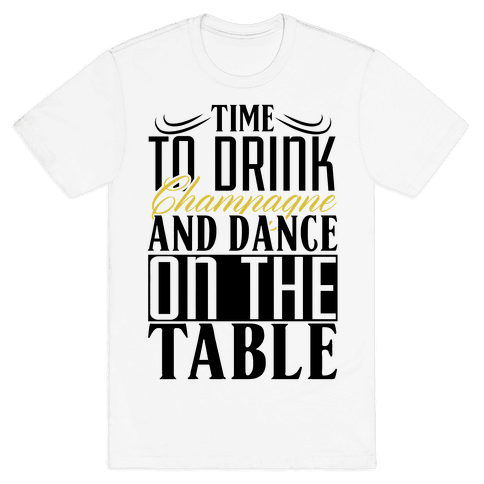 Champagne Drinking Mens T-Shirt