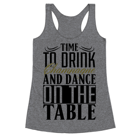 Champagne Drinking Racerback Tank Top