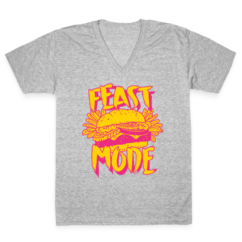 Feast Mode V-Neck Tee Shirt