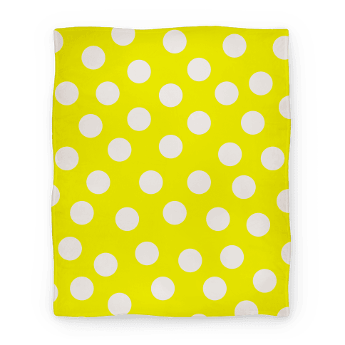 Yellow Polka Dot Blanket Blanket