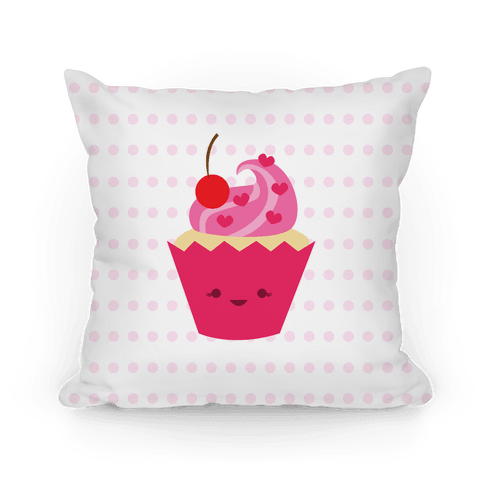 Cute Lil Cupcake Pillow Pillow