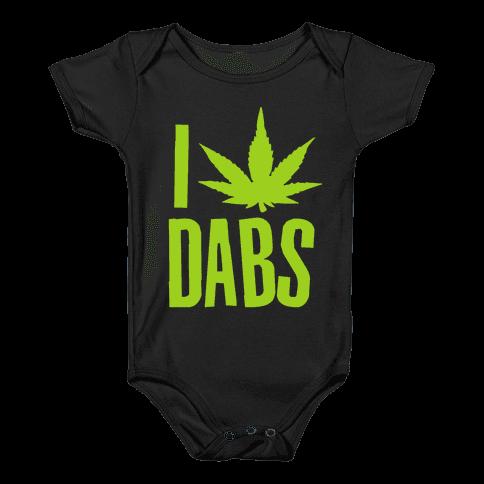I Love Dabs Baby Onesy