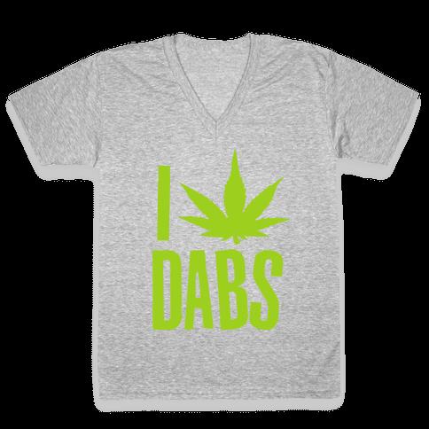I Love Dabs V-Neck Tee Shirt