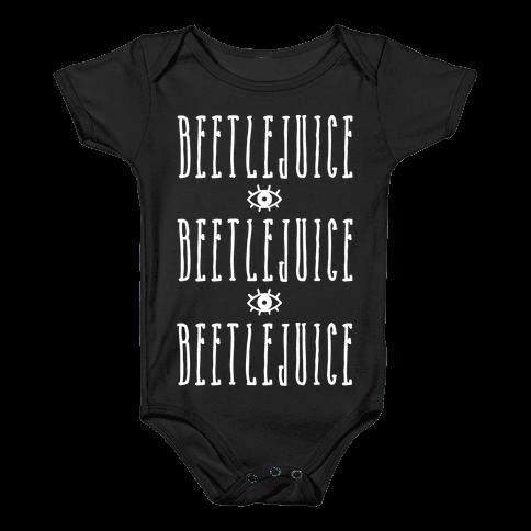Beetlejuice Beetlejuice Beetlejuice Baby Onesy