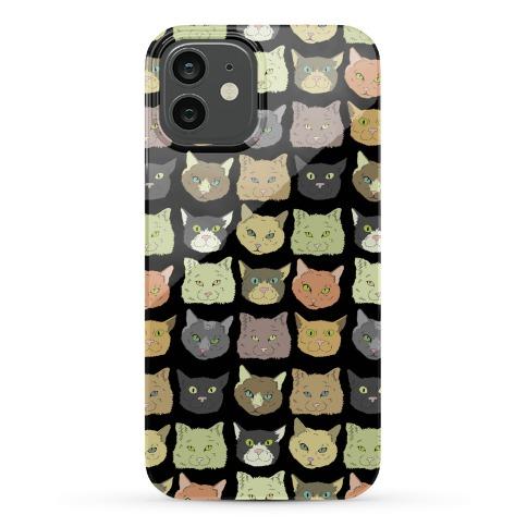 Cat Faces Pattern Phone Case