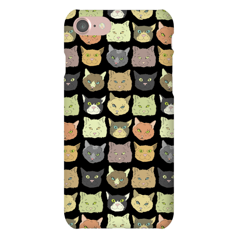 Cat Faces Pattern Phone Case